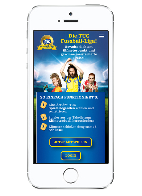 TUC Fussball-Liga App mobil Screen 01