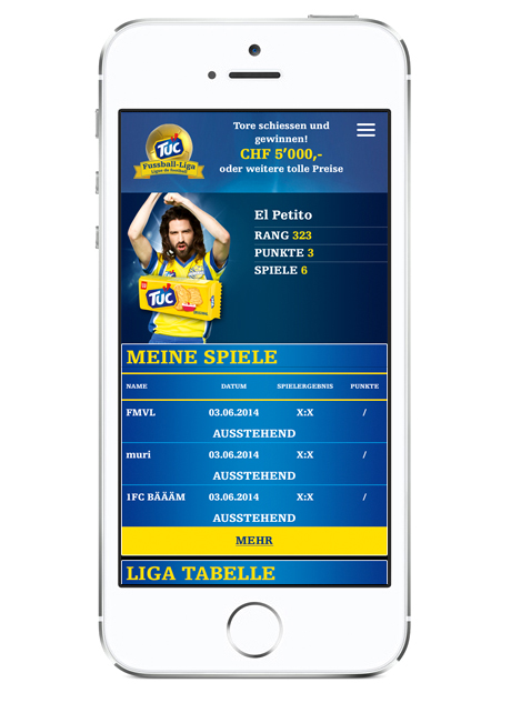 TUC Fussball-Liga App mobil Screen 02