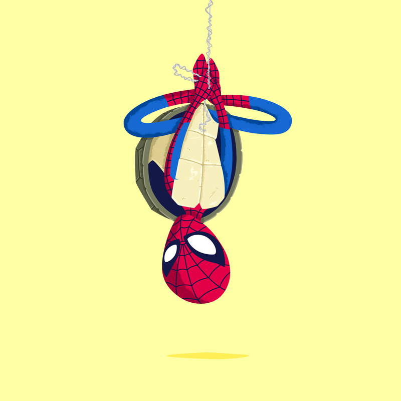 Heroes in a Half Shell Spiderman