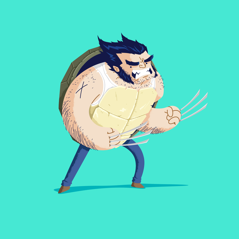 Heroes in a Half Shell Wolverine