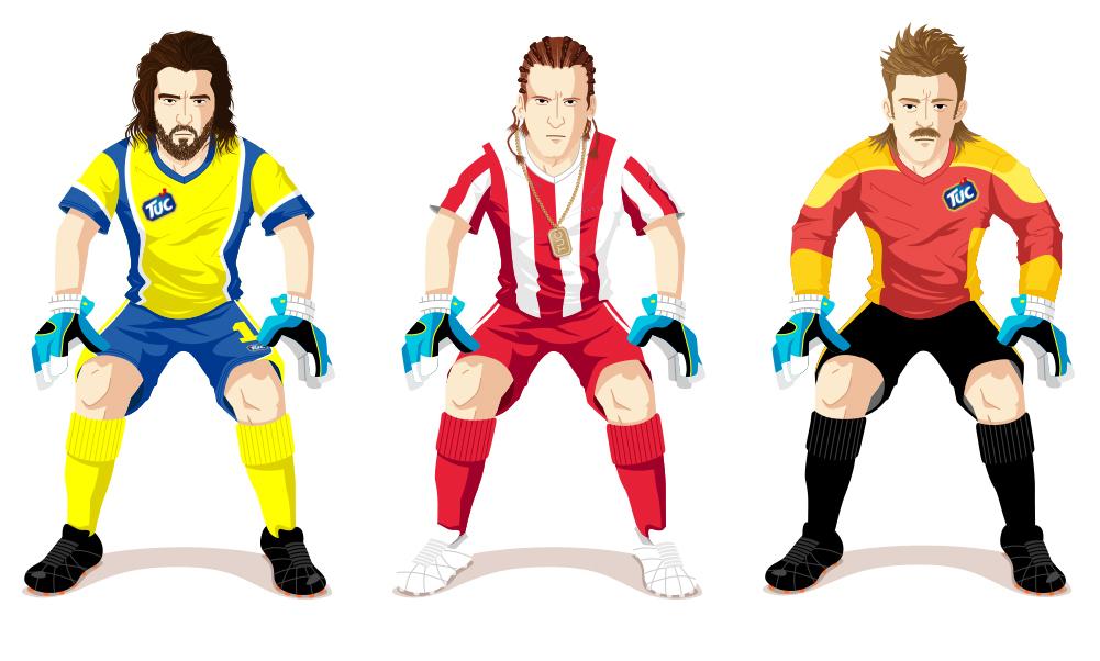 TUC Fussball Liga App Characters